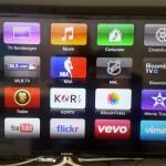 Hauptmenü der Benutzeroerfläche einer AppleTV