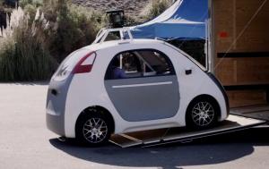 Ohne Lenker, ohne Gas und ohne Bremse - der Prototyp des Google Wagens