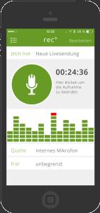 App - live senden