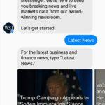 Chatbot des Wall Street Journals - Messenger